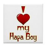 I heart my Hapa Boy Tile Coaster