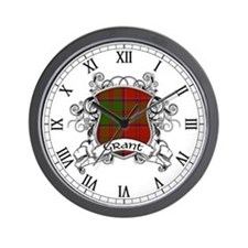 Grant Tartan Shield Wall Clock