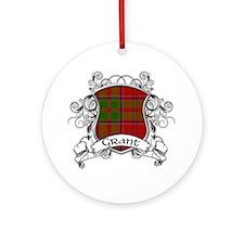 Grant Tartan Shield Ornament (Round)