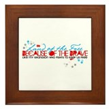 Land of the Free: Grandson Framed Tile