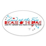 Land of the free: Nephew Oval Decal