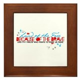 Land of the free: Niece Framed Tile