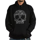 Black Wordup Standup Hoodie