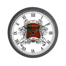Graham Tartan Shield Wall Clock
