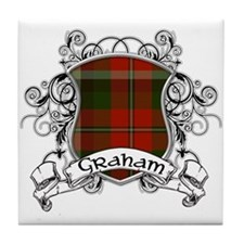 Graham Tartan Shield Tile Coaster