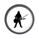 guitar player icon Wall Clock