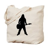 guitar player icon Tote Bag