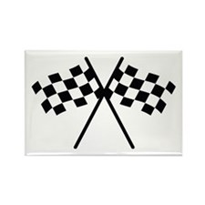 checker flag autorace Rectangle Magnet (10 pack)