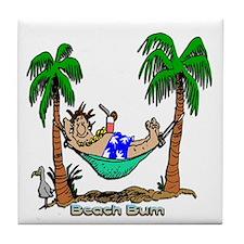 Beach Bum Tile Coaster