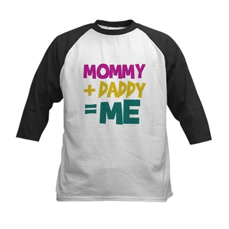 Mommy + Daddy = Me Kids Baseball Jersey