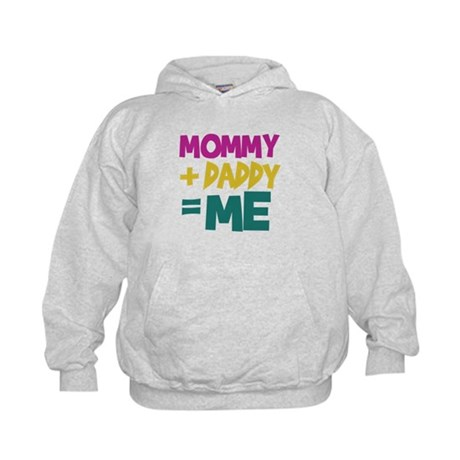 Mommy + Daddy = Me Kids Hoodie
