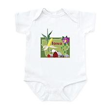 Iowa Map Infant Bodysuit