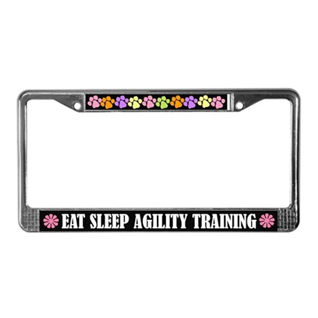 Eat Sleep Agility Training License Frame