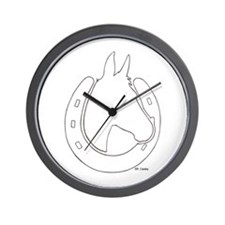 Mule Shoe Wall Clock