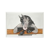 Horse Fence Rectangle Magnet (100 pack)