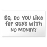 Fat Guys Rectangle Sticker 10 pk)
