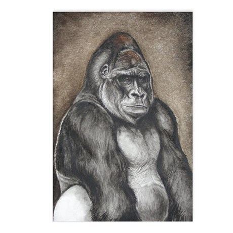 gorilla portrait Postcards (Package of 8)