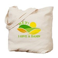 I Give A Damn Green Tote Bag