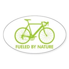 Bike Bicycle Green Oval Decal
