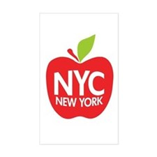 Big Apple Green NYC Rectangle Decal