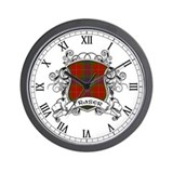 Fraser Tartan Shield Wall Clock