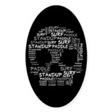 Black Wordup Standup Black Oval Decal