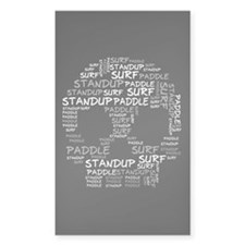 Black Wordup Standup Black Rectangle Decal