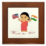 Worth The Wait India Adoption Framed Tile