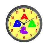 Alphabet Soup Nursery Wall Clock