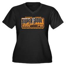 Super Soul Women's Plus Size V-Neck Dark T-Shirt