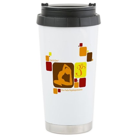 Get it Om. King Pigeon, Geome Ceramic Travel Mug
