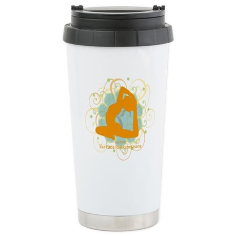 Get it om. King Pigeon Yoga P Ceramic Travel Mug