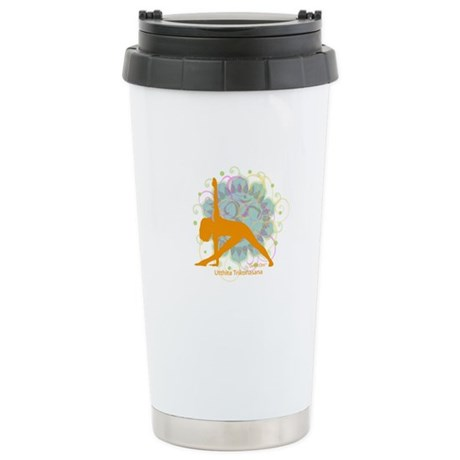 Get it Om. Extended Triangle, Ceramic Travel Mug