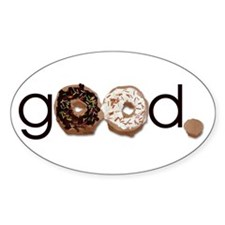 Donuts Good Oval Decal