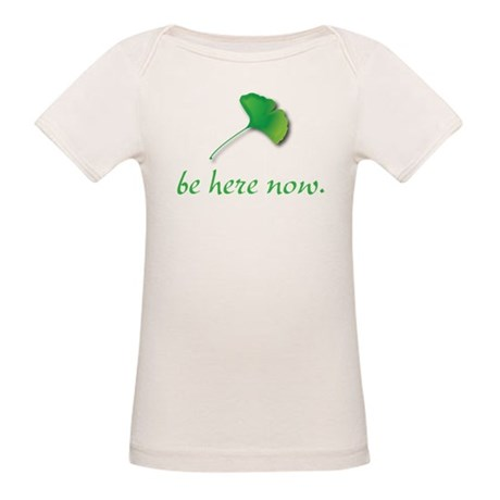 Be Here Now. Ginkgo leaf Organic Baby T-Shirt