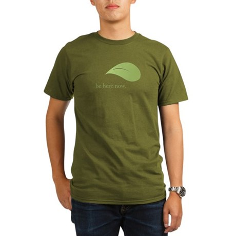 Be Here Now, Green Living Organic Men's T-Shirt (d
