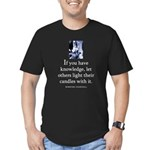 Light candles Men's Fitted T-Shirt (dark)