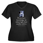 Light candles Women's Plus Size V-Neck Dark T-Shir