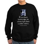 Light candles Sweatshirt (dark)