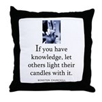 Light candles Throw Pillow