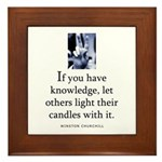 Light candles Framed Tile