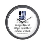 Light candles Wall Clock