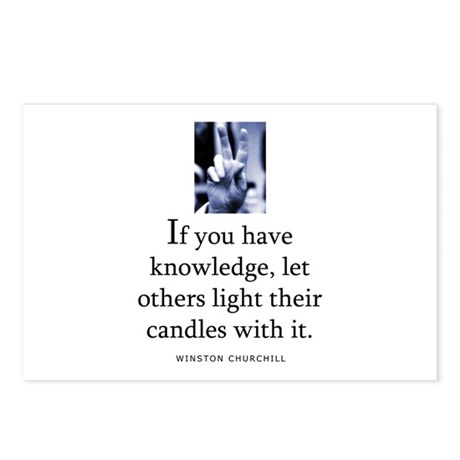 Light candles Postcards (Package of 8)