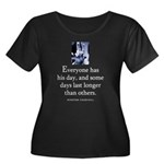 Everyone Women's Plus Size Scoop Neck Dark T-Shirt
