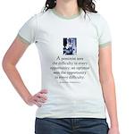 An optimist Jr. Ringer T-Shirt