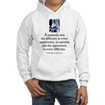 An optimist Hooded Sweatshirt