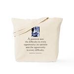 An optimist Tote Bag