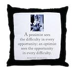 An optimist Throw Pillow