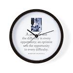 An optimist Wall Clock