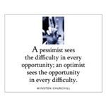 An optimist Small Poster